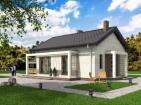 Проект индивидуального одноэтажного жилого дома с террасой